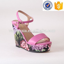 wholesale promotion fashion safety high heel sandal wedges