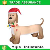 120cm tall airblown sausage inflatable Christmas dachshund