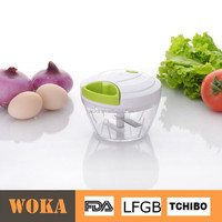 Manual Food Chopper: Compact & Powerful Hand Held Vegetable Chopper / Mincer / Blender to Chop Fruits, Vegetables, Nuts, Herbs,
