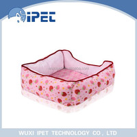 Coral fleece cute eco-friendly heated pet bed for small animals