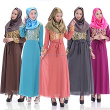 Newest arrival five colors double layer thick chiffon islamic women clothing kaftans jilbab MUSLIM ABAYA