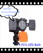 LEISE 1450Lux Professional Camera Photography Lighting with 4 LED Bulb for Camera/Camcorder/DV