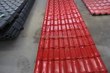 Color fast ASA spanish PVC roof tile/ synthetic resin tile/ spanish tile