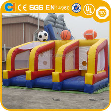 High Quality Inflatable 3 in 1 Sport Game, inflatable basketball game, inflatable football game for kids