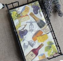 custom design paper serviettes napkins 1/8 fold