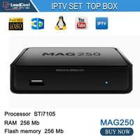 hot selling eurpoe iptv box more than 600 channels STi7105 Linux 2.6.23 mag254 mag250 iptv box media streamer full hd tv box