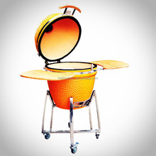 Portable and folding kamado charcoal bbq grill with 304S/S stand