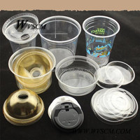 2015 high quality plastic disposable tea cups and saucers