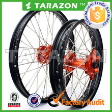 Tarazon Made Top Sale CNC Alloy Dirt Bike Spoke Wheels for KTM