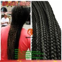 Hot sale box braid hair crochet braids with synthetic cheap braiding hair
