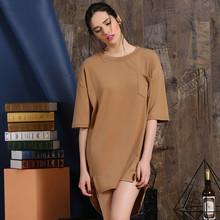 Manica corta da donna abito causale lungo t- shirt abito produttore di abbigliamento donna oem tipo di fornitore fabbrica da guangzhou