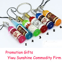 Winebottle Series key chain & mobile chain for promotion gifts