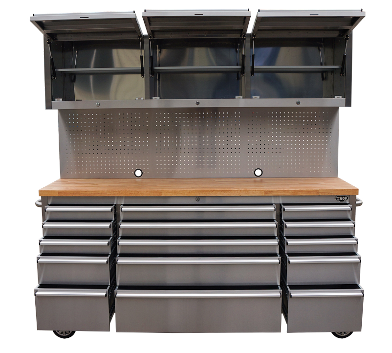 Stainless Steel Kraftwelle Germany Tool Trolley With Upper Cabinet ...