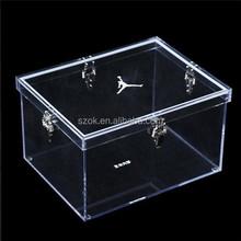 Gros produits chine boîte de plexiglas acrylique boîte à chaussures pour adidas