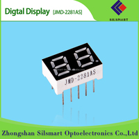 0.36 inch two digit red 7 segment outdoor led number display