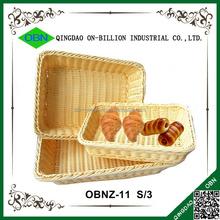 Plastic pp rattan woven wholesale bread baskets