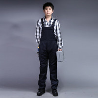 65%polyester 35%cotton black bip and brace safety work wear overalls