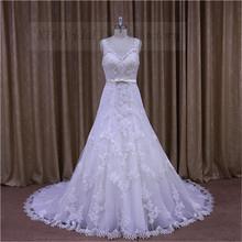 Elegant straight neck ruffled corset white/ivory wedding dress