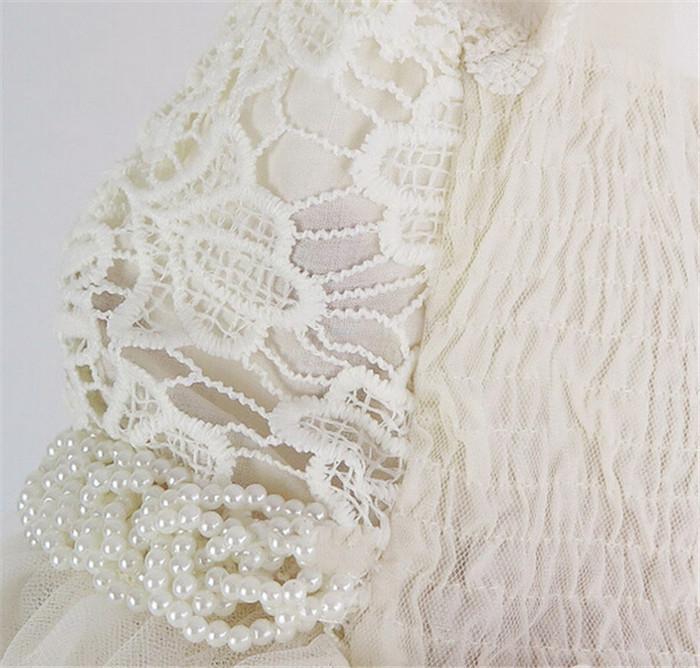 Baby meisje kleding bloem meisje jurk beige pasgeboren meisje kerst doop jurk kanten jurk - Bebe ontwerp ...