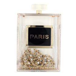 Transparent Acrylic Clear Perfume Bottles Clutch Bags (SQE1029)