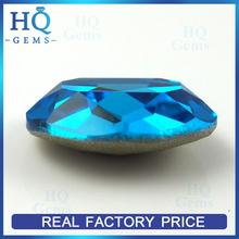 oval Faceted Glass Gems blue Foiled Back Crystal gems Jewel