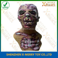 X-MERRY Rotten Zombie Mask skin bitted and bone exposed Walking Dead Latex Mask Halloween horror cosplay