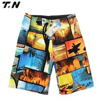 Sublimation printed beach shorts with top quality