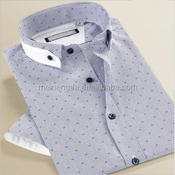 2015 new men's shirt slim fit leisure Plaid Shirt business shirts