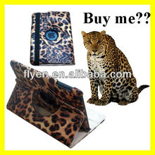 LEOPARD PU Leather Case Smart Cover with 360 Rotating Stand for Apple iPad MINI
