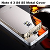 Luxury Metal Aluminum Frame Mirror Acrylic Glass Back Cover Case Mobile Phone Bag For Samsung Galaxy Note 4 3 S5 S4
