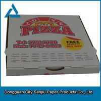 Wholesale 6-18'' corrugated pizza box/eco-friendly pizza box for fast food