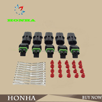 DJ3021Y-2.5-21/ 20 1.5MM 2 Pin Way Waterproof Vehicle Electrical Wire Cable Connector Plug 5 Kits. OEM NO.:12010973
