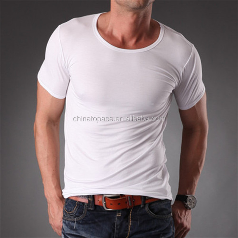 Brand name men fitness t shirt o neck slim fit blank plain for T shirt brand name list