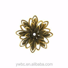 Newest Design Filigree Jewelry Finding 24mm Antique Brass Lotus Link Charms for DIY (H108361)