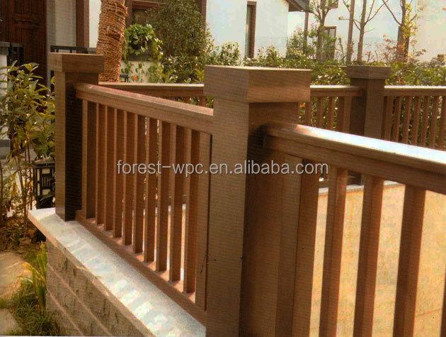 Rail pour les escaliers en bois l 39 ext rieur rampe d for Rampe escalier exterieur en bois