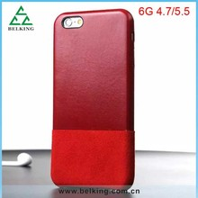 Protective Shock Proof Cover Slim Genuine Case For iPhone 6/ For iPhone 6 Plus Thin Leather Dual Color Case