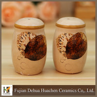 2015 new products cooking sets ceramic salt and pepper shakers