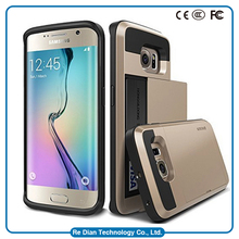 Newest! Hot Selling 2015 Newest Verus Hard Back Cover Case With Card Slt Card Bacot/Can Put Credik Cover Case For S6 EDGE