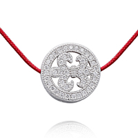 hot selling elegant 925 Sterling Silver iris pendant / charm