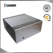 Sheet metal fabrication aluminum metal case with clear anodizing
