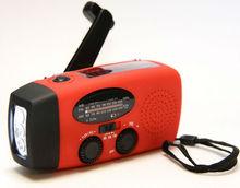 solar hand crank emergency AM/FM/NOAA WB radio with torch