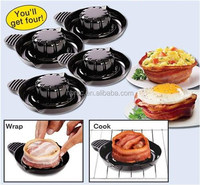 Best Quality As seen on TV Plastic Salad Bowl Food Grade Heat Resisting Bakeware&Ovenware Bacon Making Machine