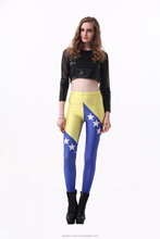Wholesale Bosnia and Herzegovina Flag Legging Digit Print Legging for World Cup Celebration A11479