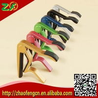 Hot!!! DHL Freeshipping Min 120pcs High Quality Aluminum Alloy Guitar Capo Clamp For Electric Acoustic with retail package