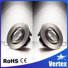 5 years warranty IP44 adjustable and dimmable cob led downlight