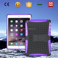 Shockproof TPU+PC heavy duty hybrid kickstand case cover for ipad air 2, 2in 1armor case for ipad 6