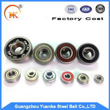 Yuanke Hot sell customed sizes and hardness, high grade Chrome steel balls