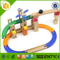 3d wooden puzzle track puzzle toy for kids
