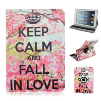 Don't touch my pad 360 Rotating PU Leather Stand Case For Apple iPad 2/3/4