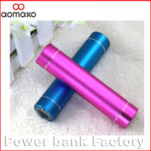 L362 flashlight Cylinder Lipstick Power bank external battery charger 2000 2200 2600mah mobile power